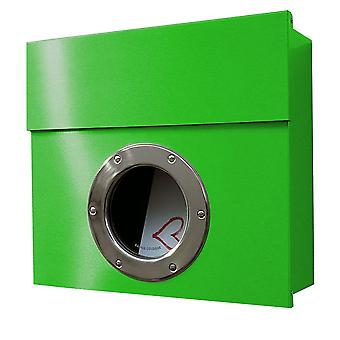 Radius Letterman 1 Briefkasten Grün mit Bullauge - 506 b