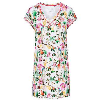 Rösch 1202019-16072 Frauen's Be Happy Bunte Dschungel Floral Nachthemd