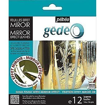 Pebeo Gedeo Mirror Effect Leaves (Gold)