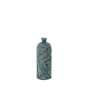 Light & Living Vase Deco 16.5x43cm Lavero Ceramics Dark Green