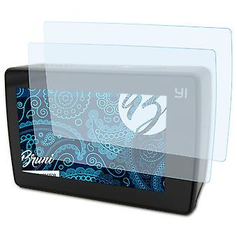 Bruni 2x Screen Protector kompatibel med Yi 4K Plus Beskyttende Film