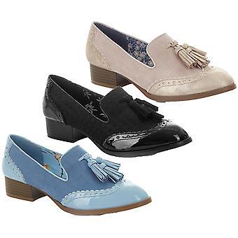 Ruby Shoo Frauen's Tara Low Heel Tassled Loafers