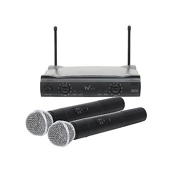 W Audio Rm10 Twin Handheld Vhf Microphone System