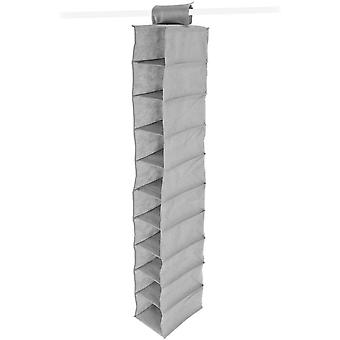 Benross Anika 10 Shelf Hanging Wardrobe Organiser - Grey