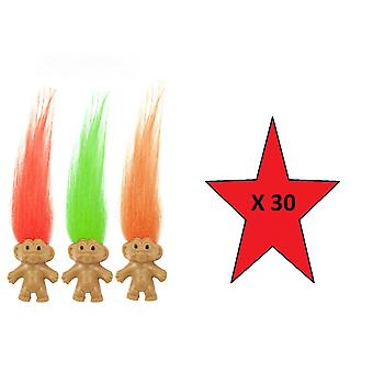 Fun Toys - Troll 3.5cm - Colours May Vary - 30 Supplied