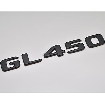 Matt schwarz GL450 flach Mercedes Benz Auto Modell Nummern Buchstaben Abzeichen Emblem für GLClass X164 X166 X167 AMG