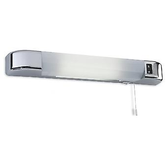 Firstlight Augment Modern Dual Voltage Chrome Badrum Rakapparat Ljus med switch
