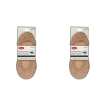 Silky Womens/Ladies Lace Cushion Footlets (1 Pair)