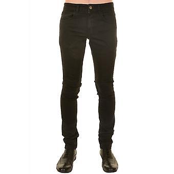 Run & Fly Black Stretch Denim Skinny Fit Jeans