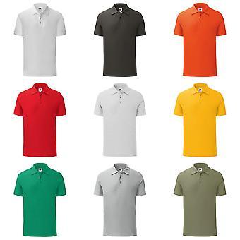 Fruit de la Loom Mens emblématique Pique Polo Shirt