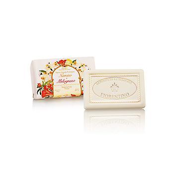 Saponificio Artigianale Fiorentino Handmade Soap - Narcissus & Amp; Pomegranate - lovingly wrapped in wrapping paper 250 g