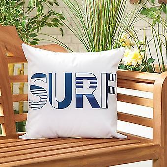 """Marina Surf Water Resistant Canvas Outdoor Scatter Garden Gevuld Kussen Gedrukt 18"""" (45cm)"""