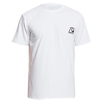 Quiksilver Heritage Short Sleeve Rash Vest in White