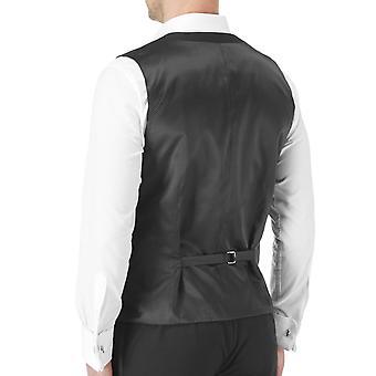 Skopes Mens Latimer Big Tall Single Breasted Dinner Suit Waistcoat - Black
