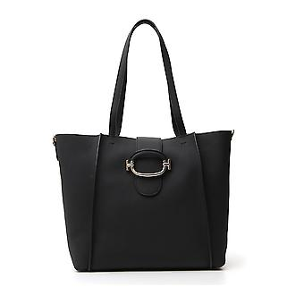 Tod's Xbwdora9300uca9999 Dames's Black Leather Tote