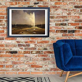 Albert Bierstadt - Geysers in Yellowstone Poster Print Giclee