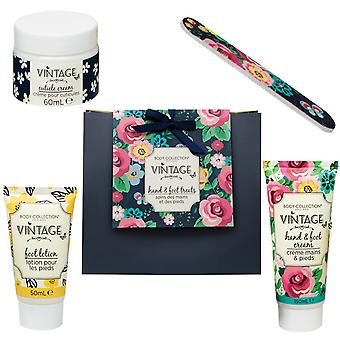 Body Collection Vintage Hand & Foot Treats Gift Set