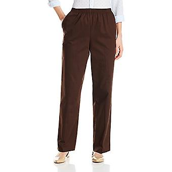 Alfred Dunner Women's Missy Proportioned Medium Twill Pant,, Chocolate, Size 8.0