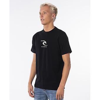Rip Curl Mænd's T-shirt ~ K-Fish Wave sort