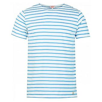Armor Lux Striped Short Sleeved Crew Neck T-Shirt