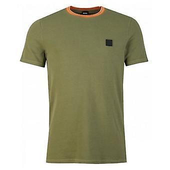 BOSS Tneo Pique Contrast Collar T-Shirt