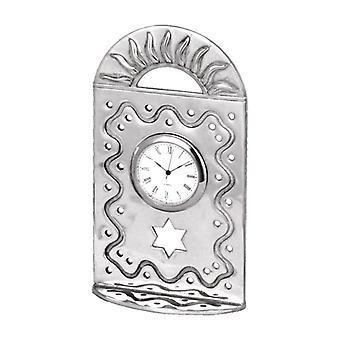 Pewter Judaica Clock