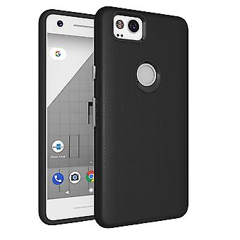 Voor Google Pixel 2 Case, Strong Styled Armour High-Quality Shielding Cover, Zwart