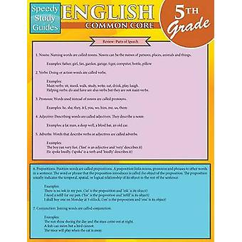 English Common Core 5th Grade Speedy Study Guides Academic by Speedy Publishing LLC