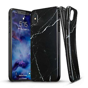 ESR Backcover Hoesje Marble iPhone XS / X - Wit