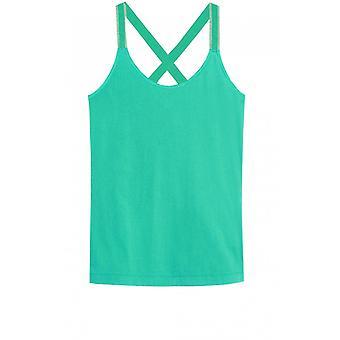 Sandwich Clothing Green Cross Back Vest Top