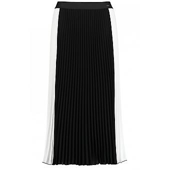 Taifun Black & White Pleated Skirt