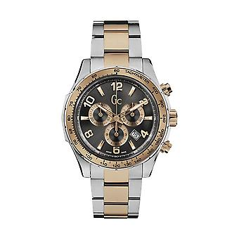 GC X51004G5S Mens Two-Tone Chronograph Swiss Watch - Silver and Rose Gold