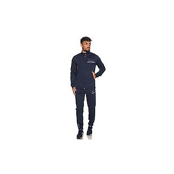 EA7 by Emporio Armani Funnel Neck Navy Cotton Tracksuit