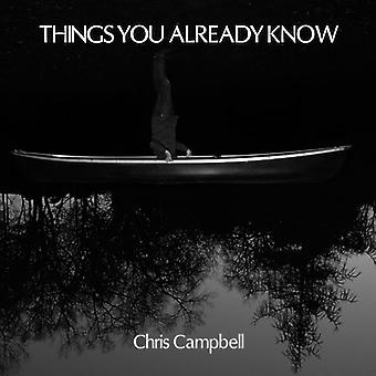 Christopher Campbell - Things You Already Know (Vinyl) [Vinyl] USA import
