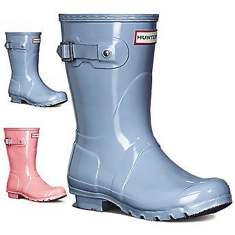 Womens Hunter Original Short Gloss Schnee Regen Winter Wellingtons Stiefel