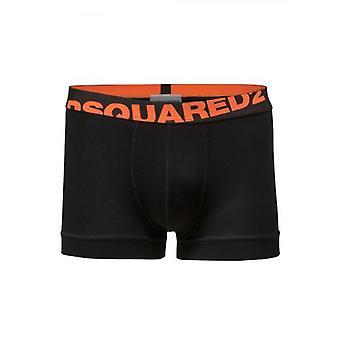 DSQUARED2 Underwear Black & Orange Trunk