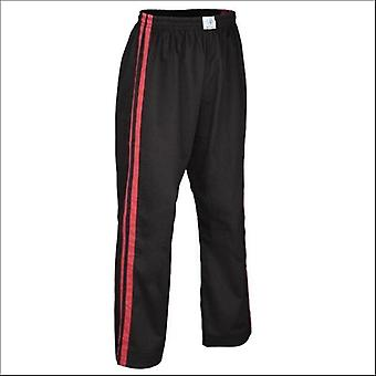 Pantalon de contact double bande adulte bytomic noir/rouge