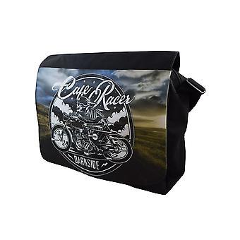 Darkside - cafe racer - messenger bag - black