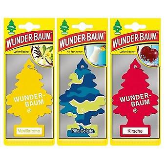 Wunder-Baum perfumado (Baunilha + Pina Colada + Cereja) 3-Pack
