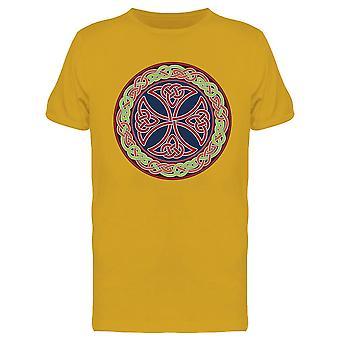 Colorato Celtic Cross Design Tee Uomini's -Immagine di Shutterstock