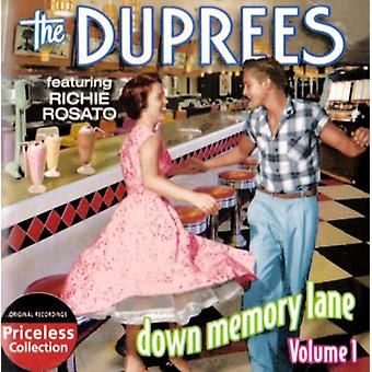 Duprees - Duprees: Vol. 1-Down Memory Lane [CD] USA import