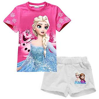 Girls Moana Short Sleeve Top And Shorts, Design 2