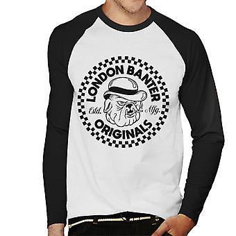 London Banter Bulldog Logo Men's Baseball Long Sleeved T-Shirt