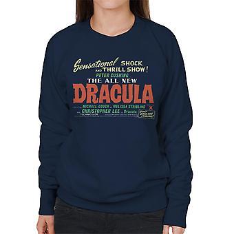 Hammer Horror films Dracula shock en Thrill show vrouwen ' s Sweatshirt
