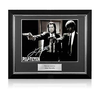 John Travolta Signé Pulp Fiction Poster: Divine Intervention. Cadre de luxe