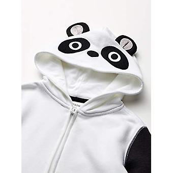 Brand - Spotted Zebra Kid Fleece Zip-Up Hoodies, Panda, Large