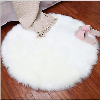 Zachte kunstmatige schapenvacht tapijt kussen cover - Slaapkamer vloermat