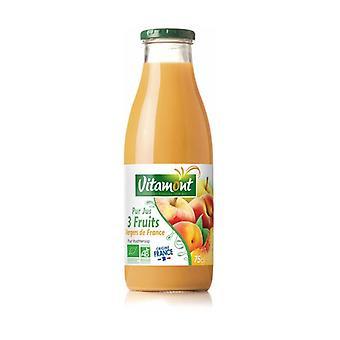 Brent saft 3 frugter fra frankrigs frugtplantager 750 ml