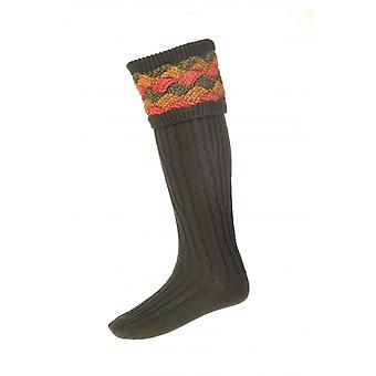 House of Cheviot Country Socks Lochnagar ~ Dark Loden