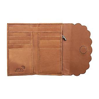 プライムハイドレディースレザー財布RFIDブロッキングカードホルダーウォレットレディース6524